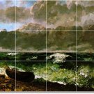 Courbet Waterfront Mural Backsplash Wall Modern Remodel Floor