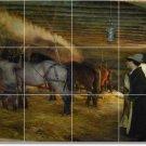 Dagnan-Bouveret Horses Mural Room Tile Dining Remodel Home Art
