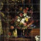 Delacroix Flowers Shower Murals Bathroom Wall Floor Design Decor