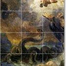 Delacroix Mythology Room Tile Mural Living Decor Design Interior
