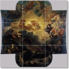 Delacroix Mythology Mural Room Living Tile Contemporary Renovate
