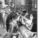 Delacroix Illustration Tile Room Mural Living Renovate Modern