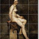 Delacroix Nudes Bathroom Shower Tile Mural Modern Home Remodel