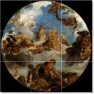 Delacroix Religious Tile Mural Bedroom Interior Decorating Ideas