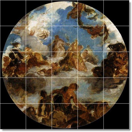 Delacroix Religious Mural Tile Bedroom Decorating Interior Ideas