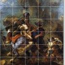 Delacroix Mythology Room Mural Dining Tile Home Ideas Remodeling