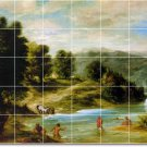 Delacroix Landscapes Tiles Room Dining Wall House Renovate Ideas
