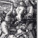 Durer Illustration Backsplash Tiles Kitchen Mural Decor Floor