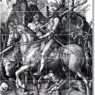 Durer Illustration Room Murals Tile Living Contemporary Remodel