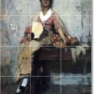 Duveneck Women Murals Wall Tile Bathroom Contemporary Renovations