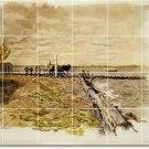 Eakins Illustration Tile Shower Wall Home Design Idea Remodeling