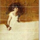 Eakins Illustration Wall Shower Bathroom Tiles Renovations Ideas