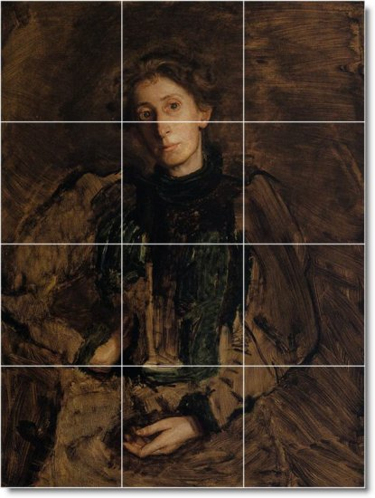 Eakins Women Mural Tiles Wall Bedroom Interior Renovations Idea