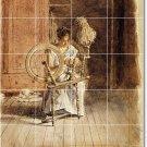 Eakins Illustration Wall Shower Tiles Bathroom Ideas Renovations