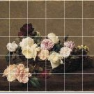Fantin-Latour Flowers Tile Mural Shower Home Modern Decorating