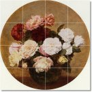 Fantin-Latour Flowers Mural Tile Shower Decorating Modern Home