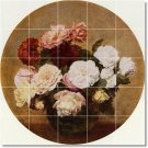 Fantin-Latour Flowers Murals Tile Room Home Construction Ideas