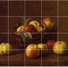 Fantin-Latour Fruit Vegetables Floor Mural Living Room Modern