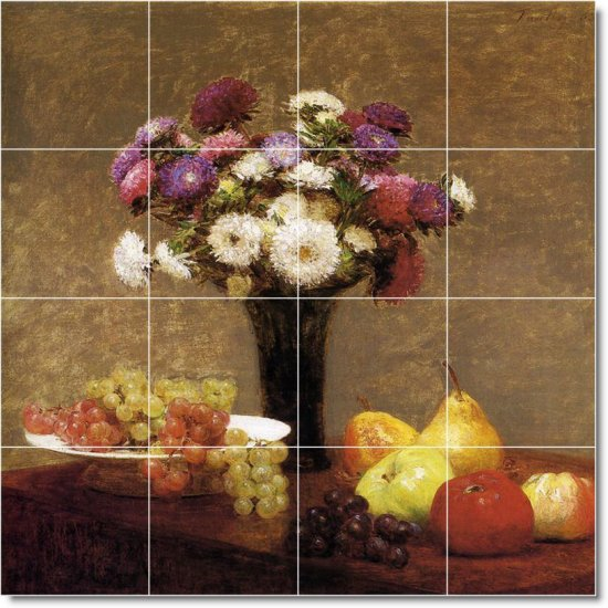 Fantin-Latour Fruit Vegetables Backsplash Tile Mural Floor Modern
