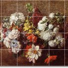 Fantin-Latour Flowers Bedroom Murals Renovations Idea Interior