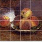 Fantin-Latour Fruit Vegetables Mural Tile Dining Room Home Modern