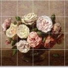 Fantin-Latour Flowers Shower Wall Bathroom Mural Decor Design