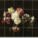 Fantin-Latour Flowers Mural Backsplash Wall Tile Design Floor