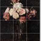 Fantin-Latour Flowers Floor Tile Room Living Interior Remodel
