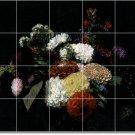 Fantin-Latour Flowers Tiles Room Wall Mural Dining Modern Art