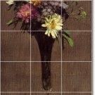 Fantin-Latour Flowers Tiles Mural Room Mural Wall Decor Floor