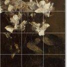 Fantin-Latour Flowers Mural Bedroom Floor Tiles Modern Design