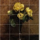 Fantin-Latour Flowers Mural Bedroom Tiles Floor Design Modern