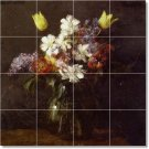 Fantin-Latour Flowers Mural Floor Room Home Remodeling Design