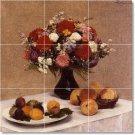 Fantin-Latour Flowers Tiles Room Floor Dining Modern Home Art