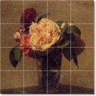 Fantin-Latour Flowers Mural Dining Tile Room Home Remodel Art