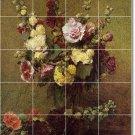 Fantin-Latour Flowers Tile Dining Room Mural Art Remodel Home