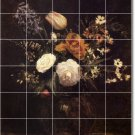 Fantin-Latour Flowers Bedroom Tile Murals Wall Ideas Renovate