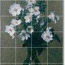 Fantin-Latour Flowers Tile Room Living Mural Modern Renovate