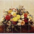 Fantin-Latour Flowers Wall Tile Bathroom Shower Construction