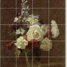Fantin-Latour Flowers Wall Shower Mural House Decor Renovate