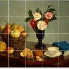Fantin-Latour Fruit Vegetables Tiles Room Dining Mural Commercial