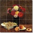 Fantin-Latour Fruit Vegetables Murals Tile Dining Room Art Modern