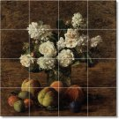 Fantin-Latour Flowers Mural Bathroom Shower Tiles Art Modern