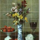Fantin-Latour Still Life Wall Tile Mural Room Design Home