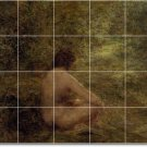 Fantin-Latour Nudes Tiles Mural Bathroom Shower Wall House Decor
