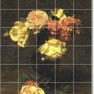 Fantin-Latour Flowers Tiles Floor Bedroom Modern Home Design