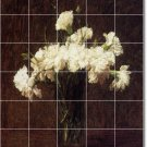 Fantin-Latour Flowers Kitchen Tile Mural Modern Floor Design