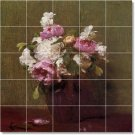Fantin-Latour Flowers Tile Mural Kitchen Floor Design Modern