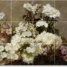 Fantin-Latour Flowers Mural Kitchen Tile Design Modern Floor