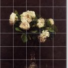 Fantin-Latour Flowers Mural Tile Kitchen Design Floor Modern